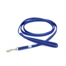 Julius-K9® Anti-Slip nylon/rubber 20mm leiband met handvat BLUE.