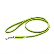 Julius-K9® Anti-Slip nylon/rubber 20mm leiband met handvat NEON.