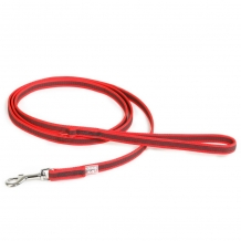Julius-K9® Anti-Slip nylon/rubber 20mm leiband met handvat RED.