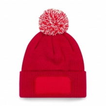 Snowstar Printers Beanie Classic Red/Off White.