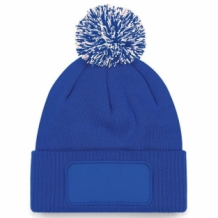 Snowstar Printers Beanie Bright Royal/Off White.